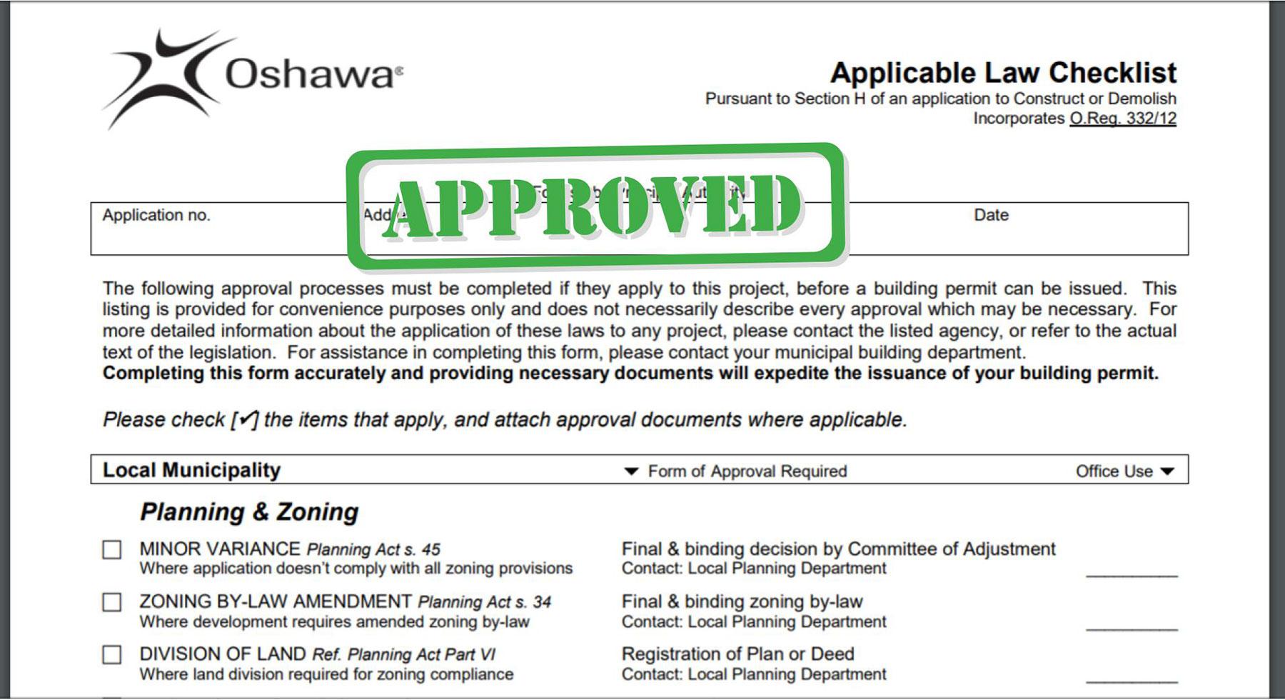 Oshawa Building Permits Durham Region Renovations
